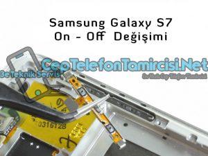 Samsung Galaxy S7 On Off Tuş Değişimi